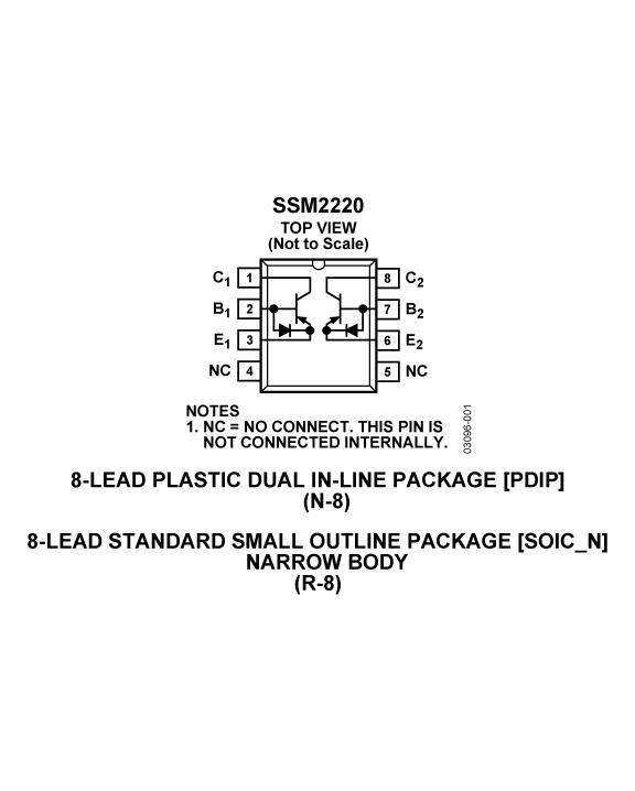 SSM2220 音频双通道匹配PNP晶体管