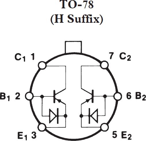 MAT03 低噪声、双通道匹配PNP晶体管