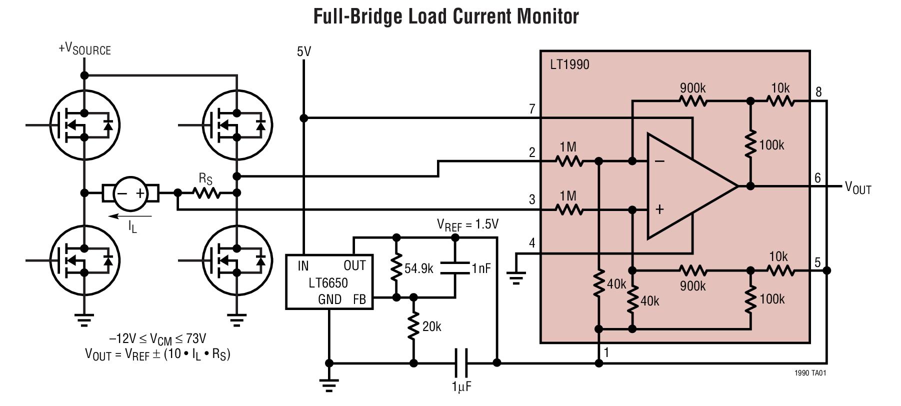 LT1990 ±250V 输入范围、增益 G=1 或 10 的微功率差分放大器