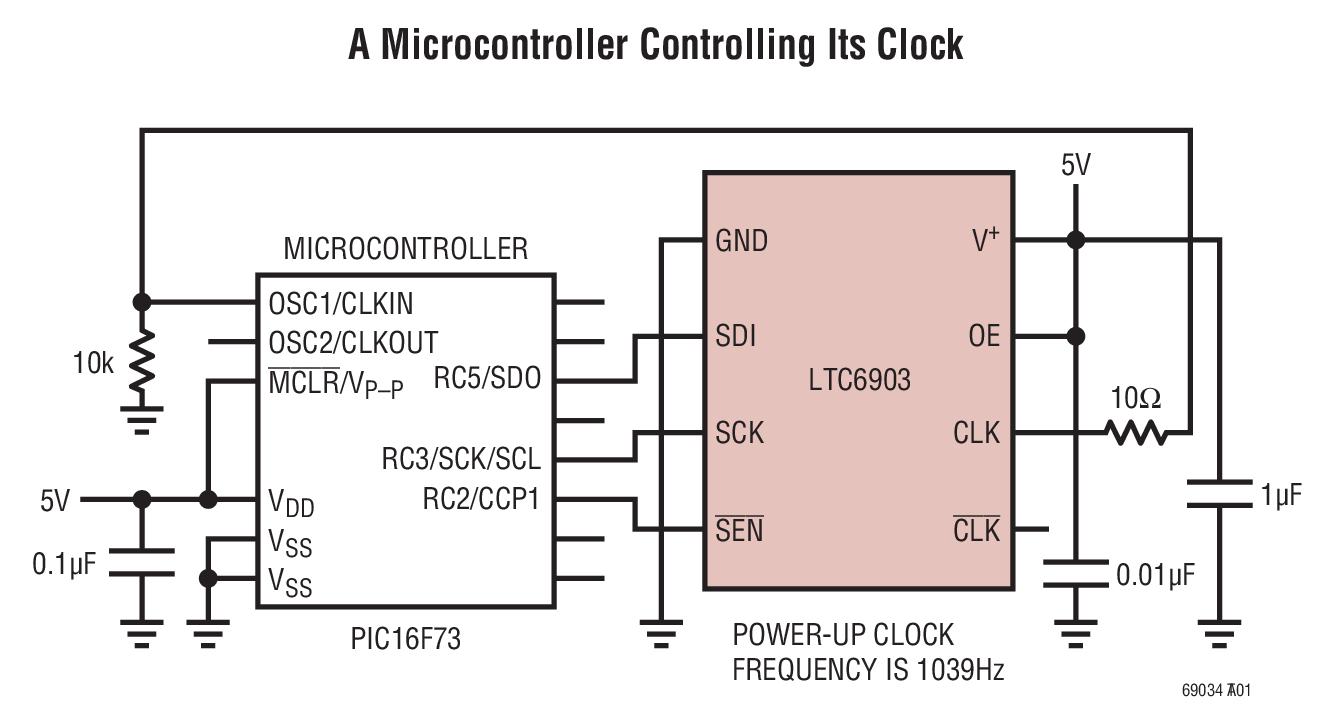 LTC6904 1kHz 至 68MHz 串行端口可设置振荡器