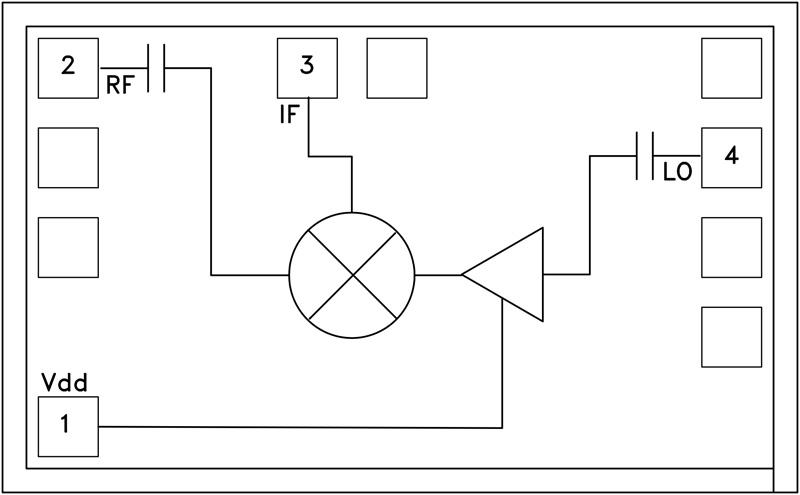 HMC339 GaAs MMIC次諧波混頻器芯片,33 - 42 GHz