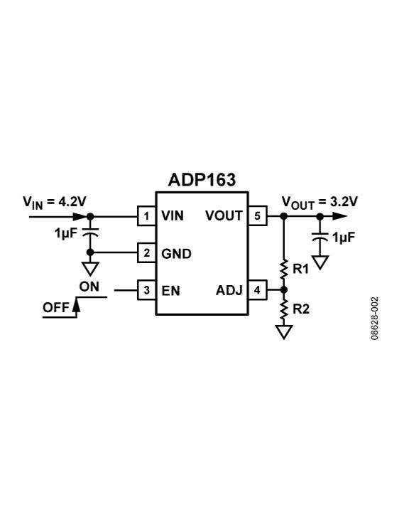 ADP163 超低静态电流、150 mA CMO...
