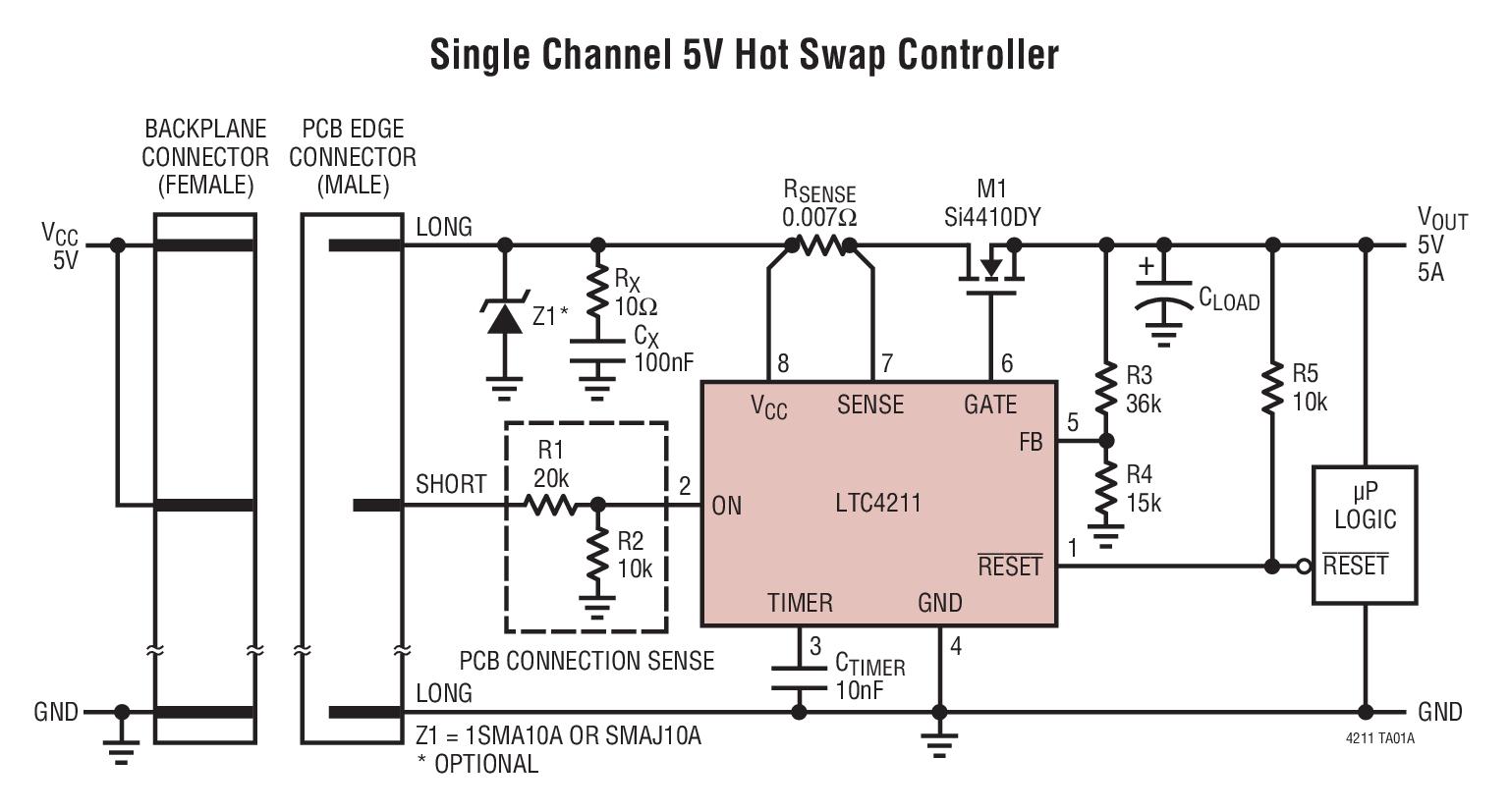 LTC4211 具多功能電流控制的熱插拔控制器