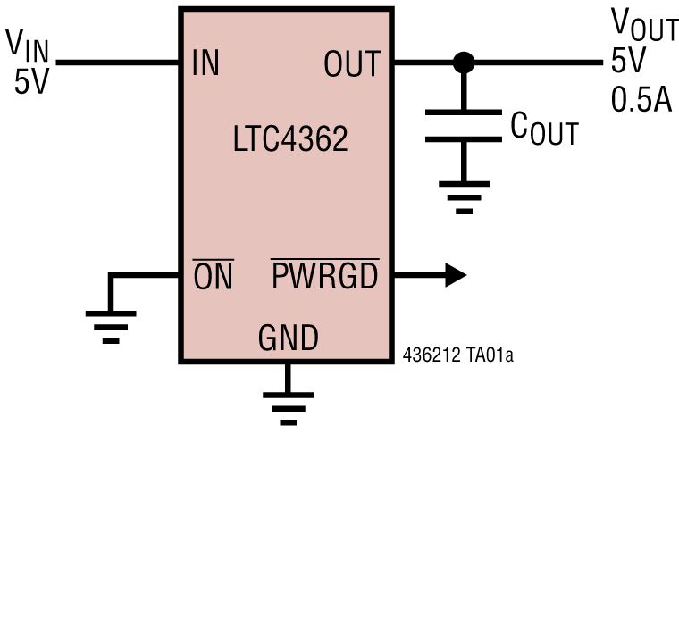 LTC4362 1.2A 过压/过流保护器