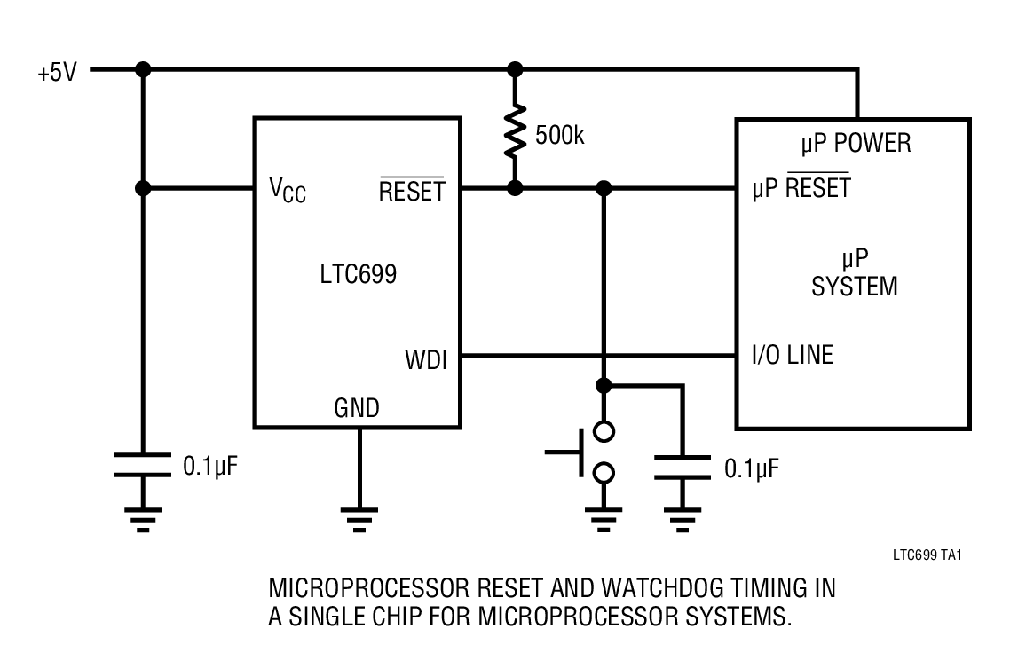 LTC699 微处理器监控电路