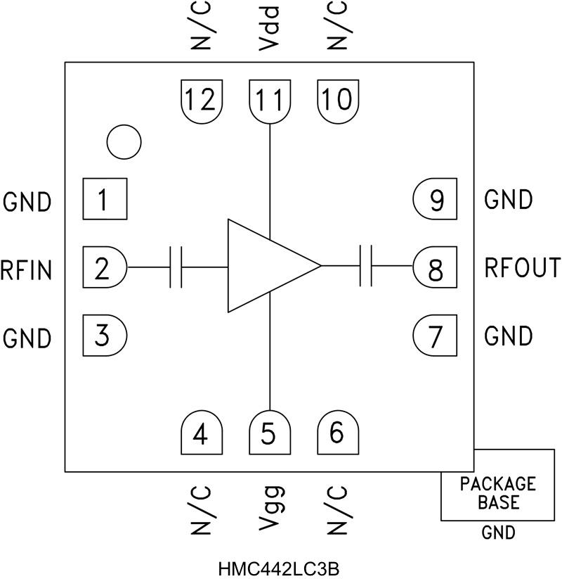 HMC442LC3B 中等功率放大器,采用SMT封装,17.5 - 25.5 GHz