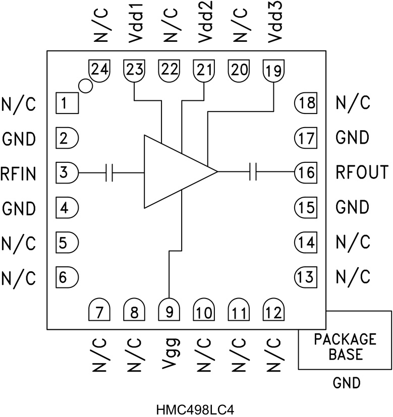 HMC498LC4 中等功率放大器,采用SMT封装,17 - 24 GHz
