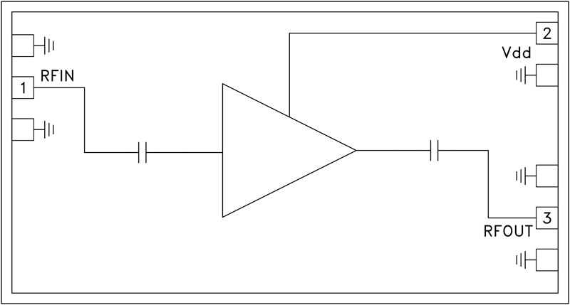HMC-ALH376 低噪声放大器芯片,35 - 45 GHz