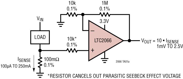 LTC2067 LTC2067:10μA 電源電...