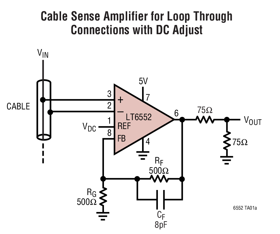 LT6552 3.3V 单电源视频差动放大器
