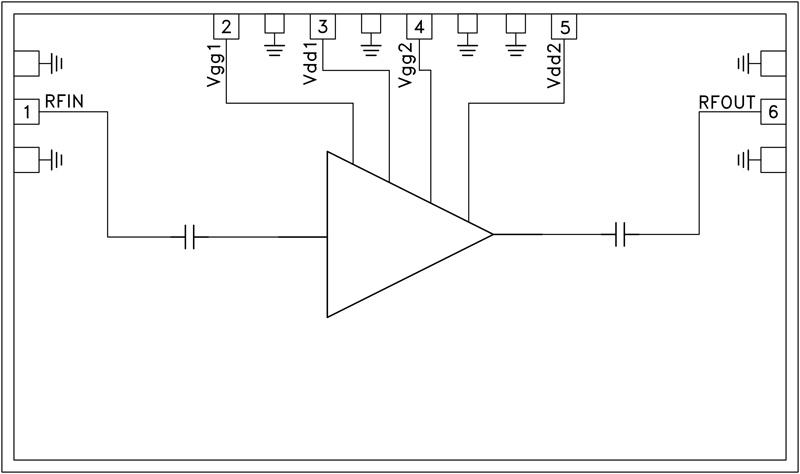 HMC-APH196 中等功率放大器芯片,17 - 30 GHz