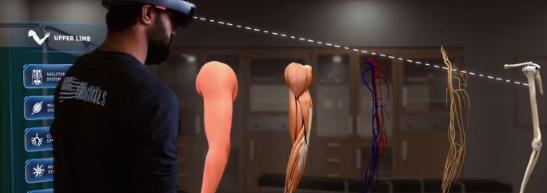 Holopundits联手微软 推出一款能转换至虚拟解剖实验室的AR应用程序