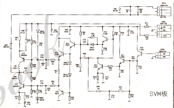 康佳电视的CRT视放板和SVM板与按键板电路原理图免费下载