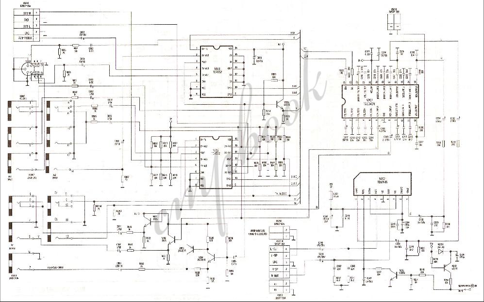 康佳电视的AV控制与音频放大电路的原理图免费下载