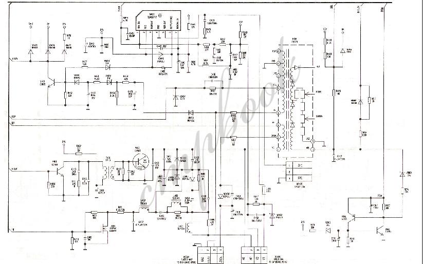 康佳电视CRT的扫描输出电路原理图免费下载