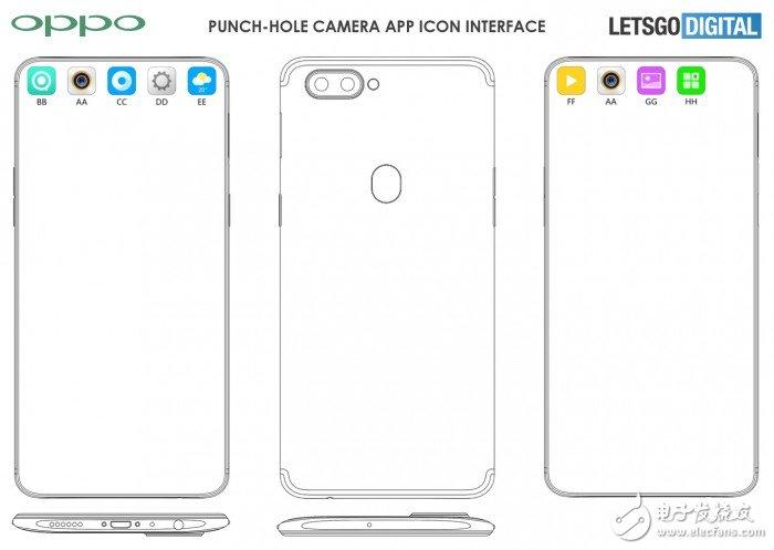 OPPO公布最新专利屏幕开孔遮盖设计实现了将开孔隐藏在图标中的效果