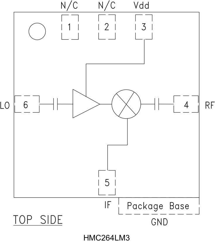 HMC264LM3 次諧波混頻器,采用SMT封裝,20 - 30 GHz