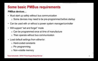 PMBus相关知识和基本应用要求介绍