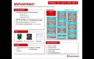 EVM430-FR6047超声波测量解决方案