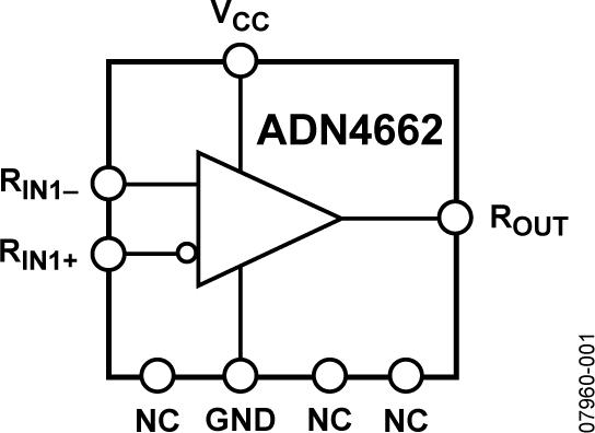 ADN4662 单通道、3 V、CMOS、LVDS差分线路接收器