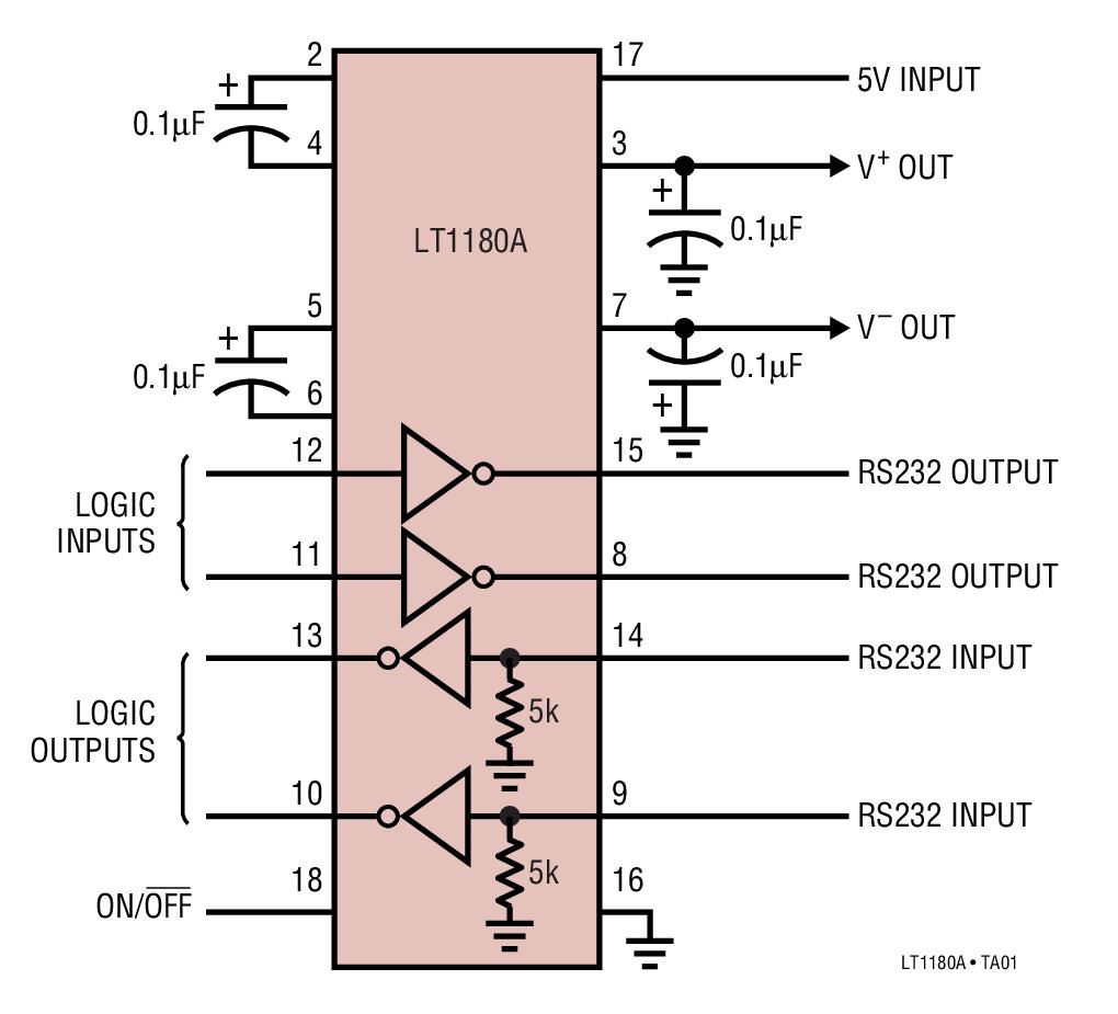 LT1181A 采用 0.1μF 電容器的低功率...