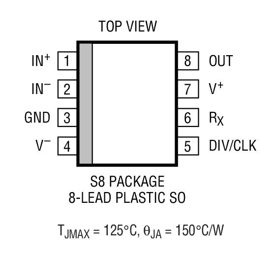 LTC1569-6 线性相位、DC 准确、低功率、10 阶低通滤波器