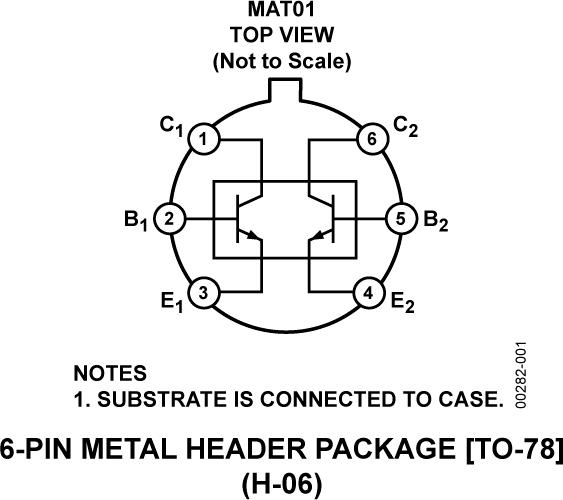 MAT01 匹配单芯片双通道晶体管