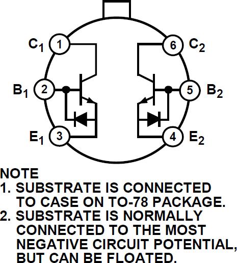 MAT12 音频双通道匹配NPN晶体管