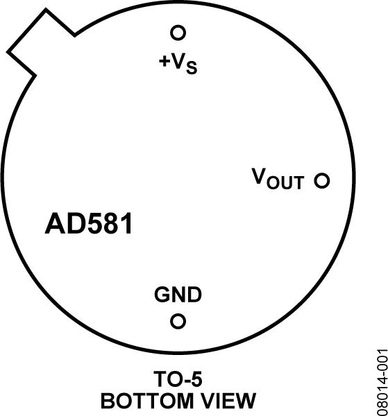 AD581 高精度10 V IC基准电压源