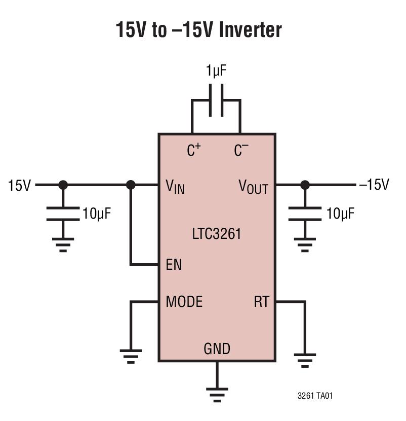 LTC3261 高電壓、低靜態電流的負輸出充電泵