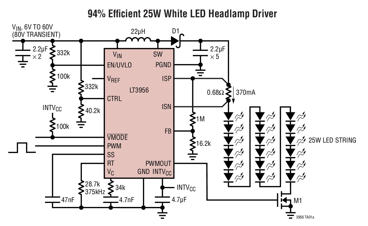 LT3956 80VIN、80VOUT 恒定电流...