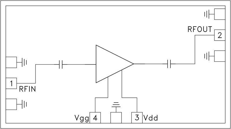 HMC-ABH209 中等功率放大器芯片,55 - 65 GHz