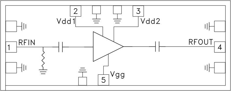 HMC-AUH320 中等功率放大器芯片,71 - 86 GHz