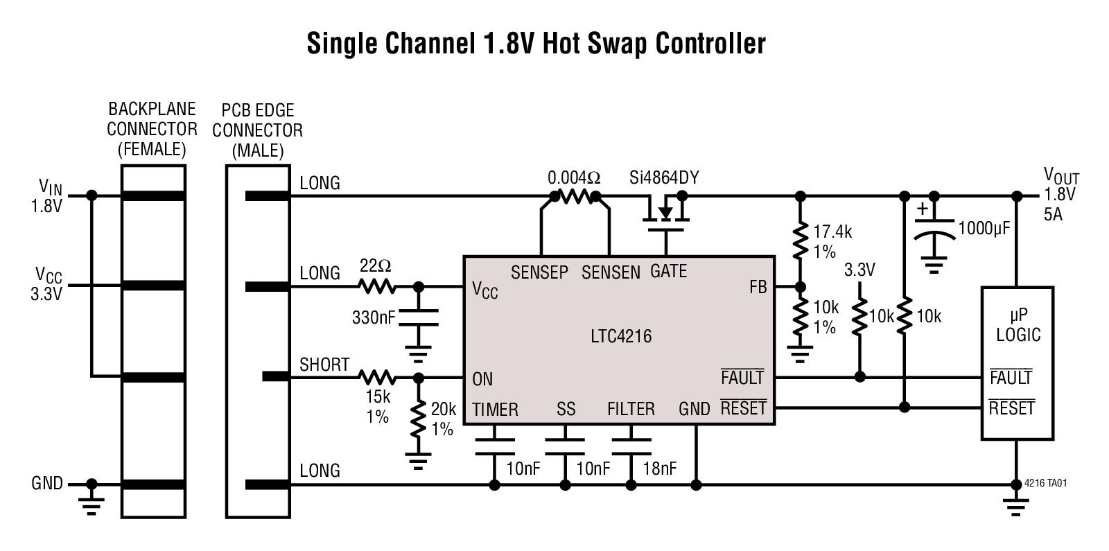 LTC4216 超低电压热插拔控制器