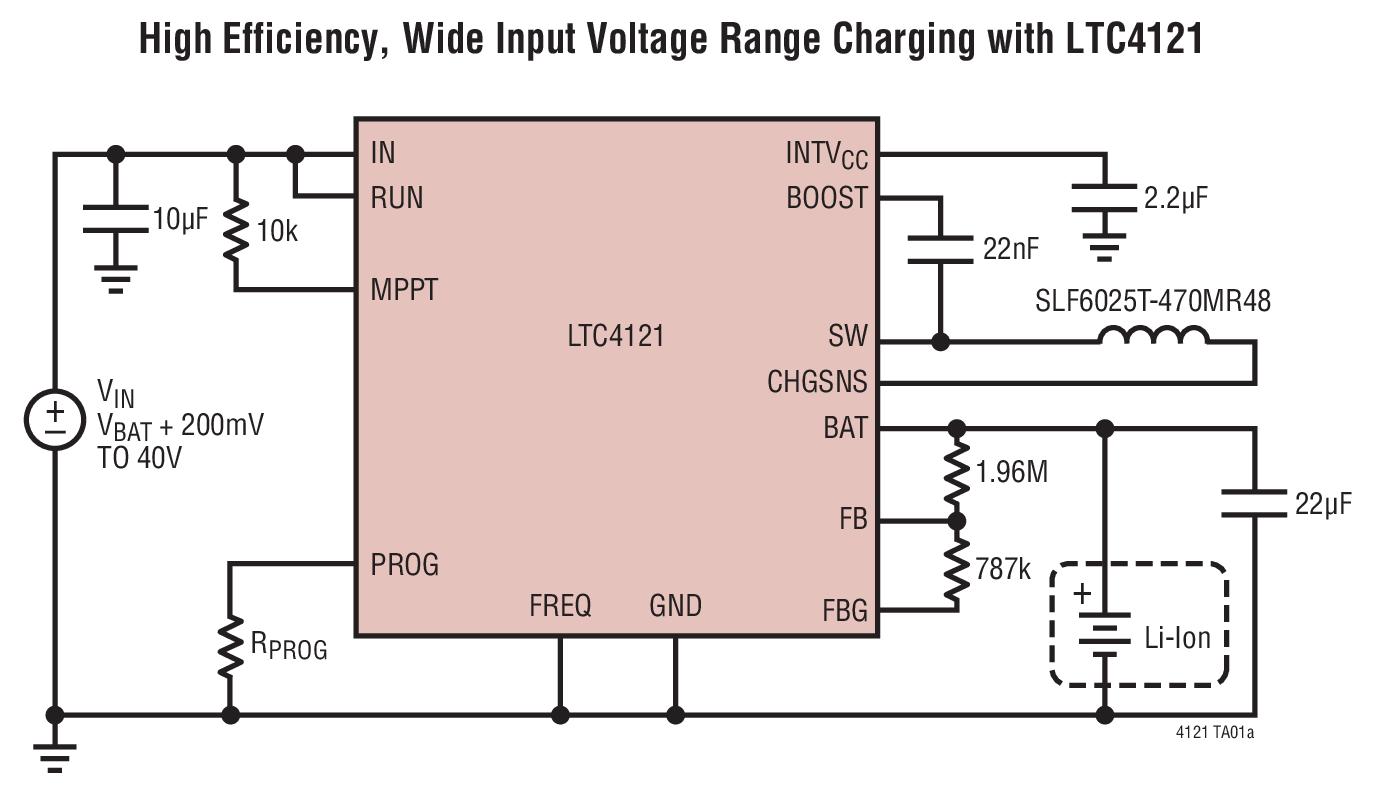 LTC4121 40V 400mA 同步降压型电池充电器