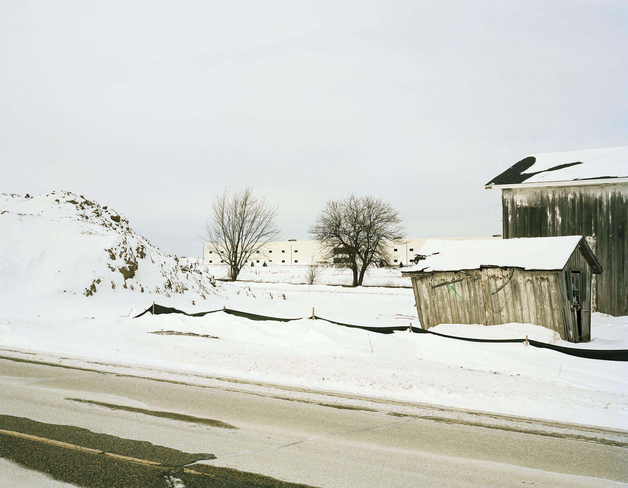 雪覆盖了富士康威斯康星州的厂区