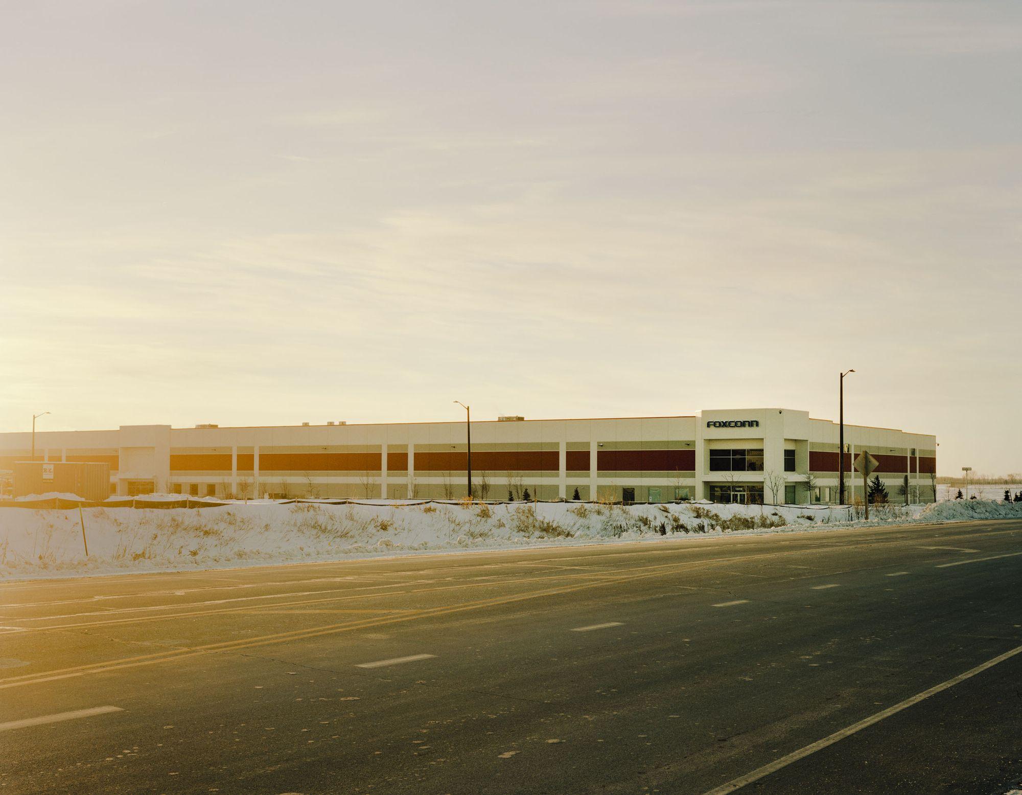 富士康位于Mount Pleasant的实验培训中心,该公司正在那里测试液晶显示器的生产,并为其员工做好准备。