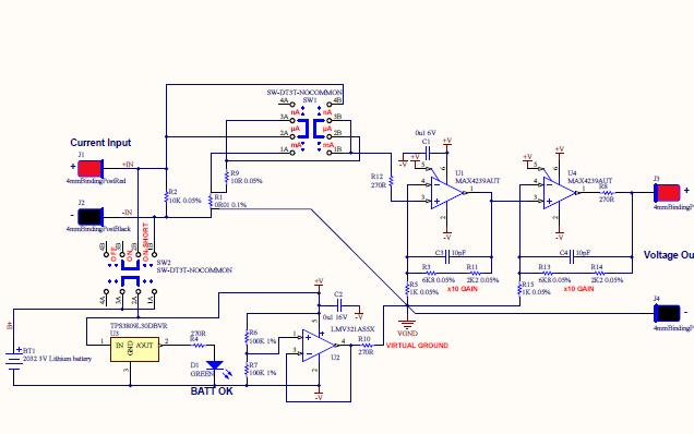 微电流检测设计的资料合集免费下载包括PCB,原理图和程序等