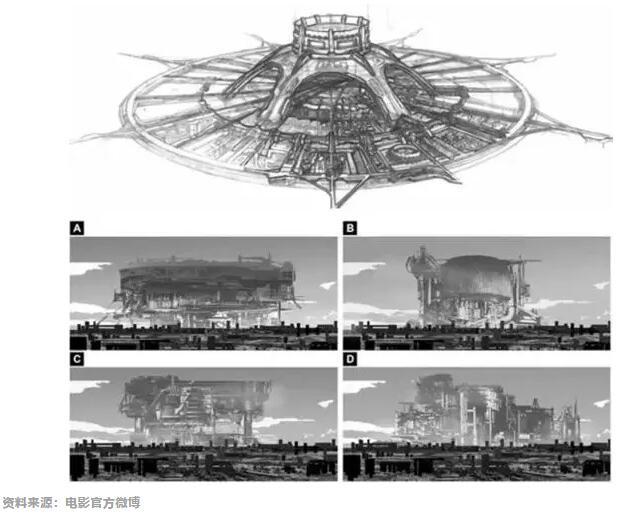 《流浪地球》行星发动机设计手稿
