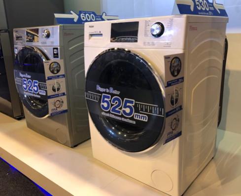 海尔泰国首发的内筒直径达525毫米的滚筒洗衣机 一出场就引来众多注目