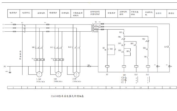 CA6140型卧式车床PLC电路图免费下载