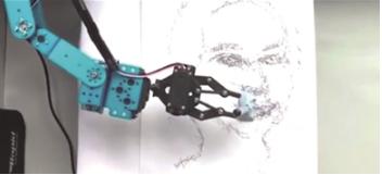"""机器人艺术家""""艾达""""进入最后开发阶段 能模仿人类完成素描作品"""