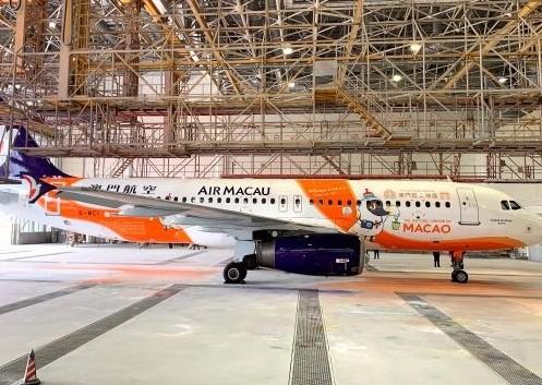 Ameco成都分公司圆满完成了澳门航空一架A320飞机交付检工作