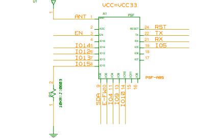 多通道WIFI模块PSF-B04参考电路原理图免费下载
