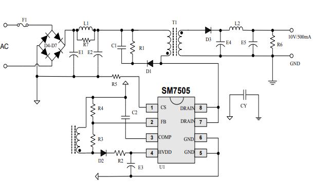 SM7505芯片的电源驱动方案64222葡京的网址免费下载