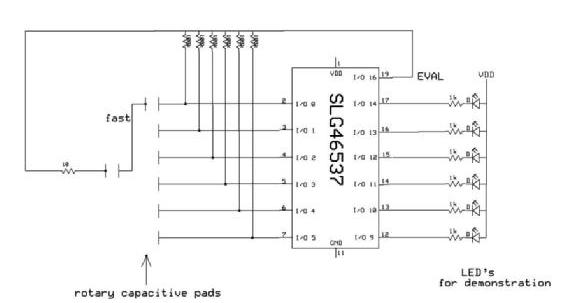 用GreenPAK可配置混合信号IC设计非接触式旋转编码器