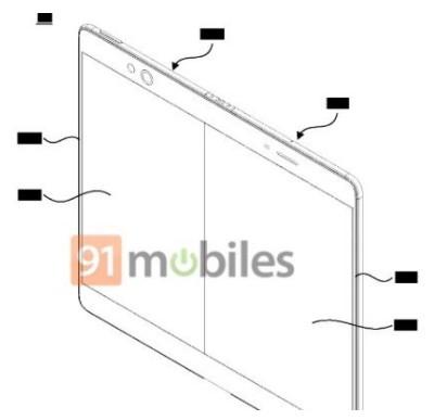 OPPO折叠专利曝光采用铰链折叠的方式打开后的手机像是一块平版电脑