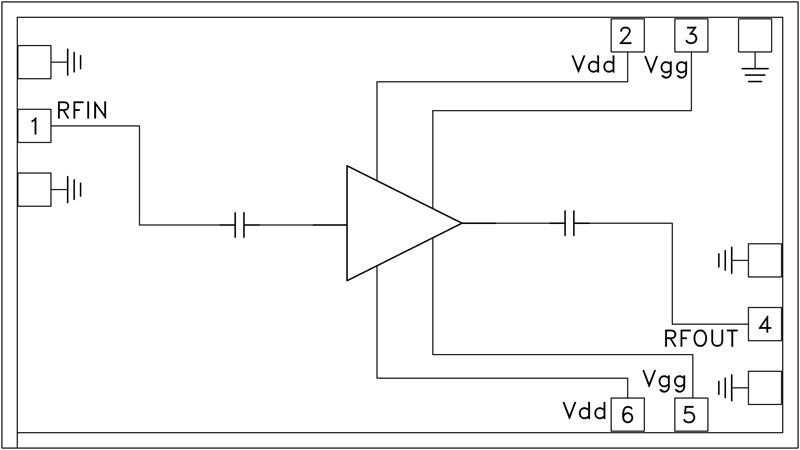 HMC-ALH140 低噪声放大器芯片,24 - 40 GHz