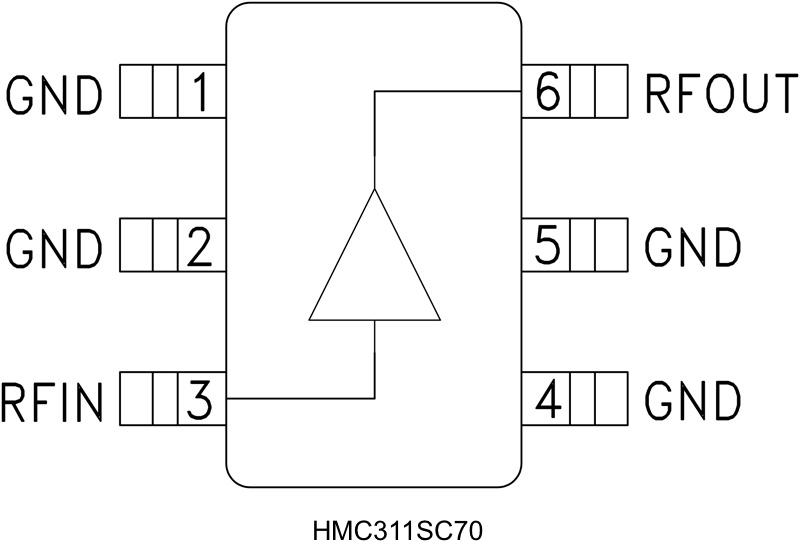 HMC311SC70 InGaP HBT增益模块放大器,采用SMT封装,DC - 8 GHz