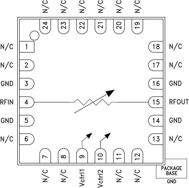 HMC812A GaAs MMIC可变电压衰减器,5 - 30 GHz